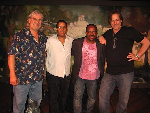 Terje Lie, Tony Moore, Darryl Williams, Billy Steinway at Festival of the Arts, Pageant of the Masters, Laguna Beach, California